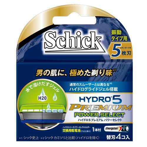 【売切れ御免】シック カミソリ ハイドロプレミアム ハイドロ5 プレミアム パワーセレクト 替刃 4個