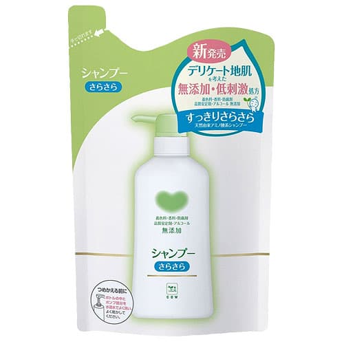牛乳石鹸 カウブランド無添加 シャンプー さらさら詰替 380ml