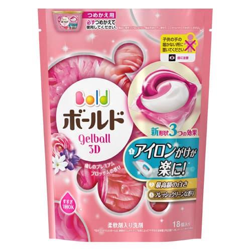 P&G 洗濯洗剤 ボールド ジェルボール3D 癒しのプレミアムブロッサムの香り 詰替