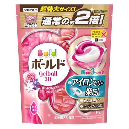P&G 洗濯洗剤 ボールド ジェルボール3D 癒しのプレミアムブロッサムの香り 詰替 超特大サイズ