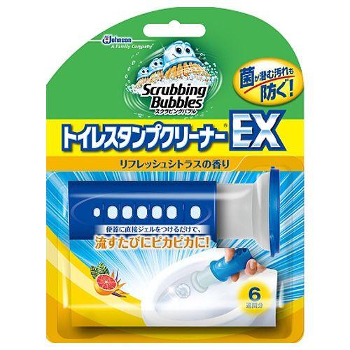 ジョンソン トイレ洗浄剤 スクラビングバブル トイレスタンプクリーナーEX リフレッシュシトラス 本体