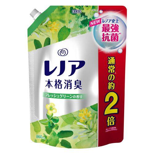 P&G 柔軟剤 レノア 本格消臭 フレッシュグリーンの香り詰替 特大 860ml