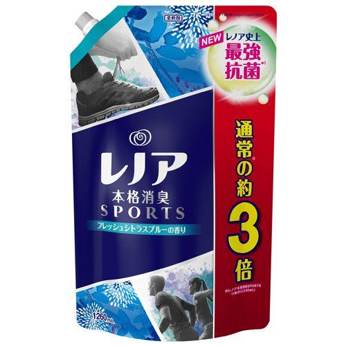 P&G 柔軟剤 レノア本格消臭 スポーツ フレッシュシトラスブルーの香り 詰替 超特大 1260ml