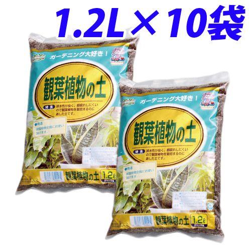 園芸用土 観葉植物の土 1.2L 10袋
