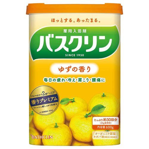 バスクリン ゆずの香り 600g 【医薬部外品】