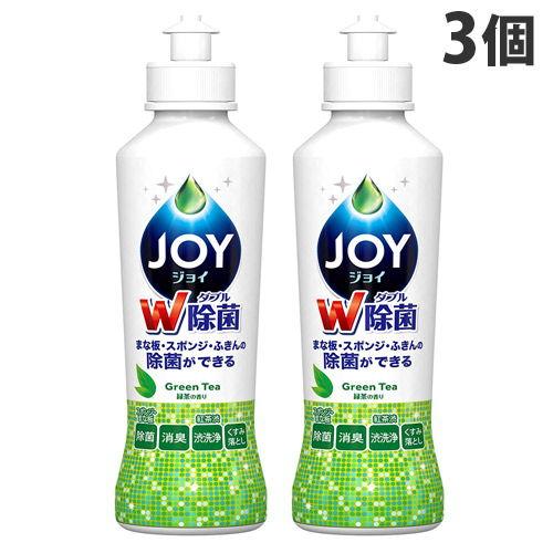 P&G 食器用洗剤 ジョイ 除菌ジョイコンパクト 緑茶の香り 本体 190ml ×3個