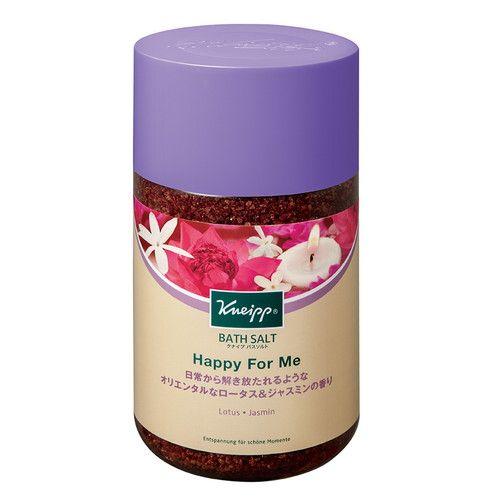 クナイプジャパン 入浴剤 クナイプ(KNEIPP) バスソルト ハッピーフォーミー ロータス&ジャスミンの香り 850g