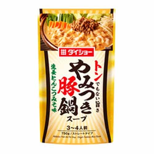 ダイショー やみつき豚鍋スープ 生姜とんこつみそ味 750g