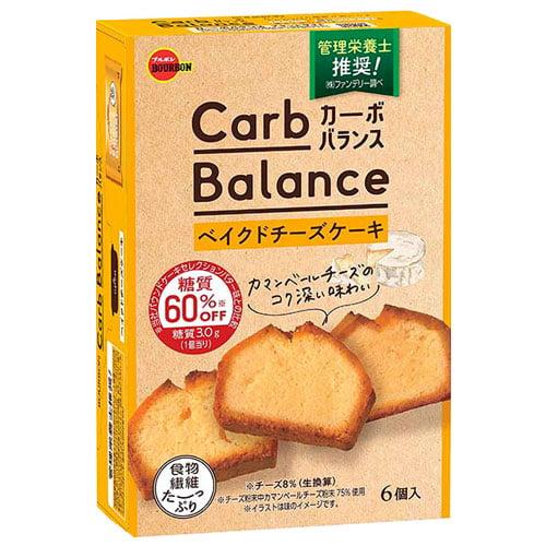 ブルボン カーボバランス ベイクドチーズケーキ 糖質60%オフ 6個入