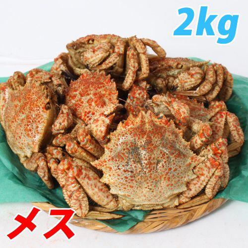 【今季販売終了】青森むつ湾 とげくり蟹【メス】 2kg(13~17杯)