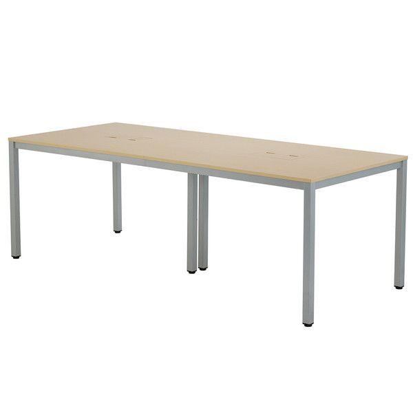 アール・エフ・ヤマカワ OAミーティングテーブル W2100 ナチュラル AT-2190-AF2