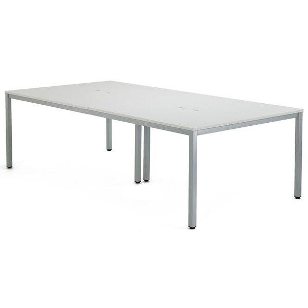 アール・エフ・ヤマカワ OAミーティングテーブル W2400 ホワイト AT-2412-AF2