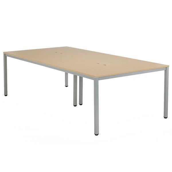 アール・エフ・ヤマカワ OAミーティングテーブル W2400 ナチュラル AT-2412-AF2