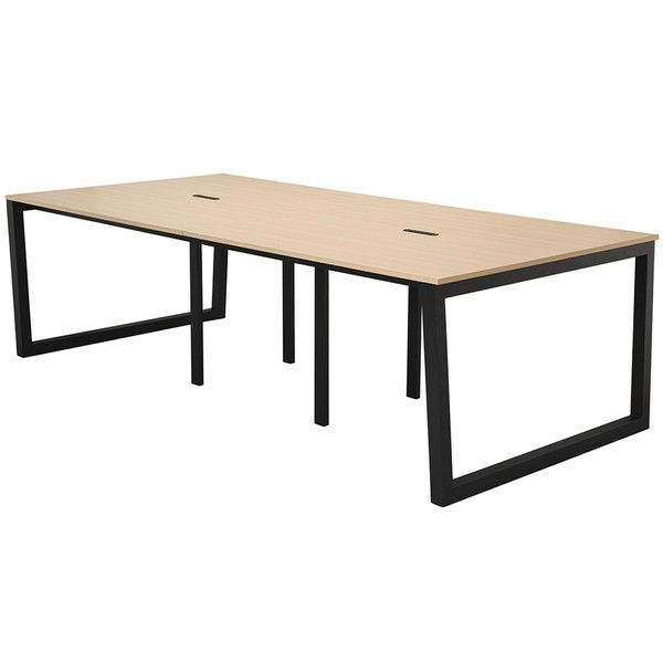 アール・エフ・ヤマカワ リスム フリーアドレス用テーブル W2400×D1200×H720mm ナチュラル×ブラック脚 RFFLT-2412NA-BL