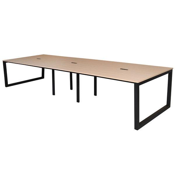 アール・エフ・ヤマカワ リスム フリーアドレス用テーブル W3600×D1200×H720mm ナチュラル×ブラック脚 RFFLT-3612NA-BL
