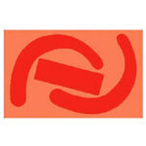 ユニット 蛍光ステッカー 安全帯使用確認ステッカー 77×120 蛍光赤 1枚 33523R