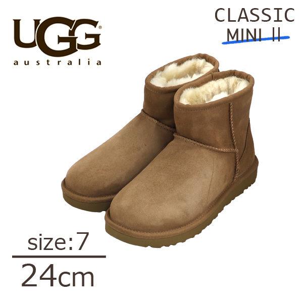 UGG アグ クラシックミニ II ムートンブーツ ウィメンズ チェスナット 7(24cm) 1016222 Classic Mini