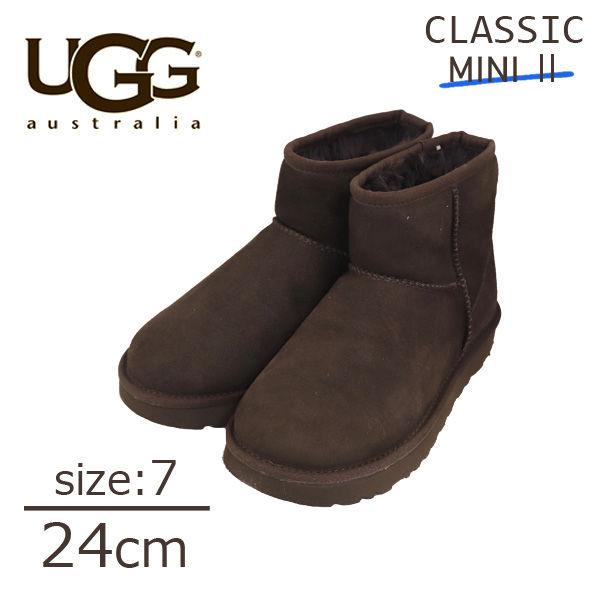UGG アグ クラシックミニ II ムートンブーツ ウィメンズ チョコレート 7(24cm) 1016222 Classic Mini