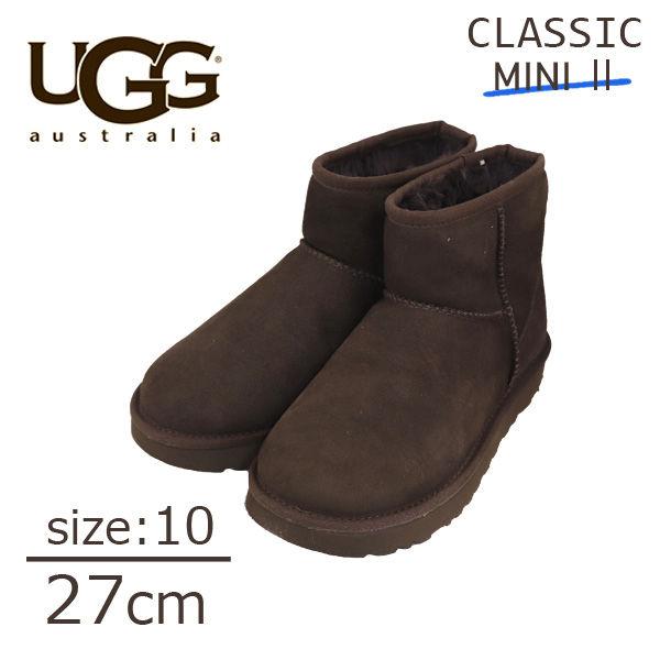 UGG クラシックミニ II ムートンブーツ ウィメンズ チョコレート 10 27cm