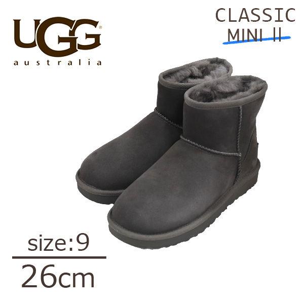 UGG アグ クラシックミニ II ムートンブーツ ウィメンズ グレー 9(26cm) 1016222 Classic Mini