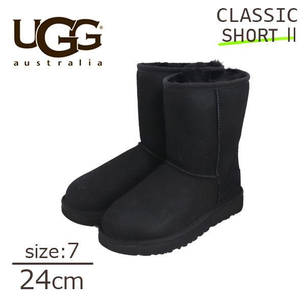UGG アグ クラシックショート II ムートンブーツ ウィメンズ ブラック 7(24cm) 1016223 Classic Short