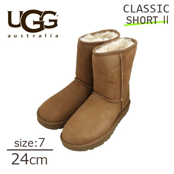 UGG アグ クラシックショート II ムートンブーツ ウィメンズ チェスナット 7(24cm) 1016223 Classic Short