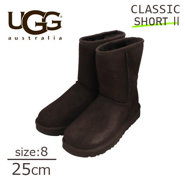 UGG アグ クラシックショート II ムートンブーツ ウィメンズ チョコレート 8(25cm) 1016223 Classic Short