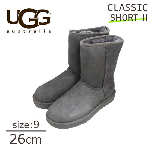 UGG アグ クラシックショート II ムートンブーツ ウィメンズ グレー 9(26cm) 1016223 Classic Short