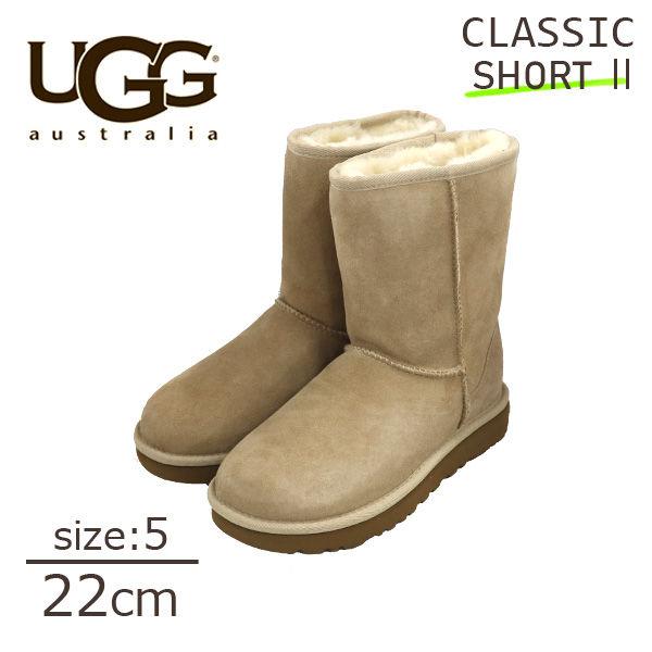 UGG アグ クラシックショート II ムートンブーツ ウィメンズ サンド 5(22cm) 1016223 Classic Short