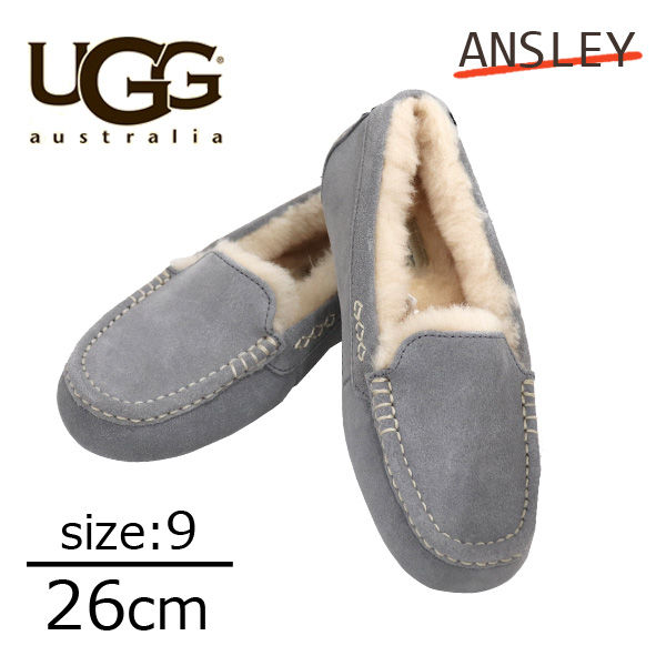 UGG アグ アンスレー ムートンシューズ ウィメンズ ライトグレー 9(26cm) 3312 Ansley