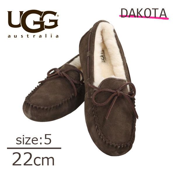 UGG アグ ダコタ ムートンシューズ モカシンシューズ ウィメンズ エスプレッソ 5(22cm) 1107949 Dakota