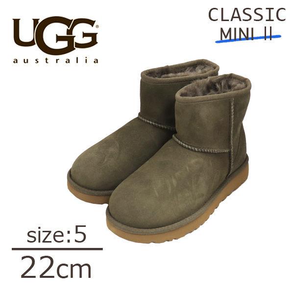 UGG アグ クラシックミニ II ムートンブーツ ウィメンズ ユーカリ 5(22cm) 1016222 Classic Mini