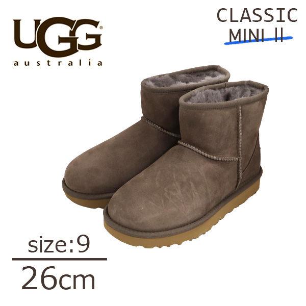 UGG アグ クラシックミニ II ムートンブーツ ウィメンズ モール 9(26cm) 1016222 Classic Mini